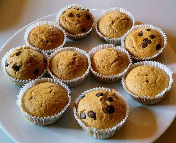 Muffins amandes avec ou sans pépites de chocolat