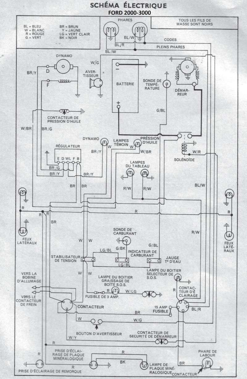 T29967 Circuit Electrique Ford 3000 on ford wiring diagram