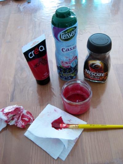 ingrédients du faux sang