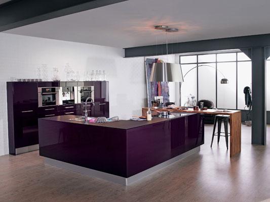 (couleur murs de cuisine ( cuisine prune)