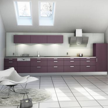 Couleur murs de cuisine cuisine prune for Couleur gris perle cuisine