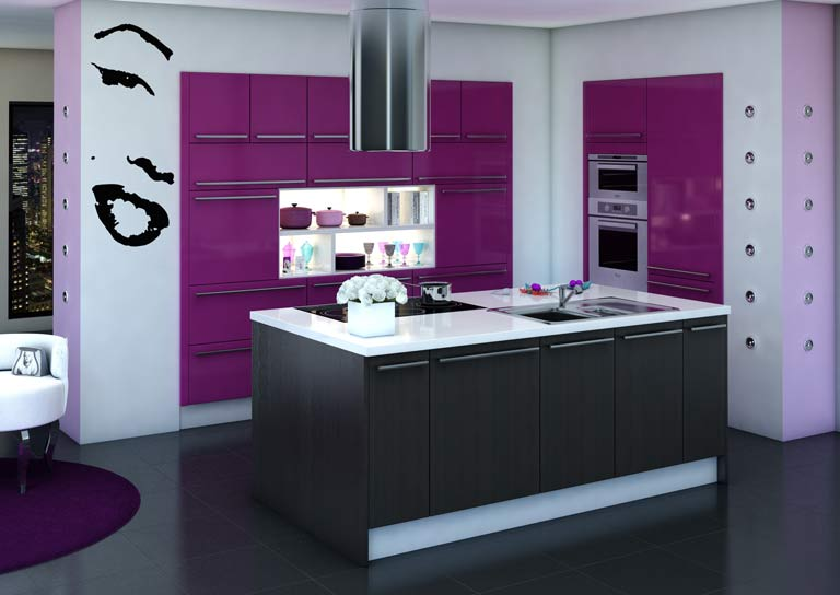 couleur murs de cuisine cuisine prune. Black Bedroom Furniture Sets. Home Design Ideas