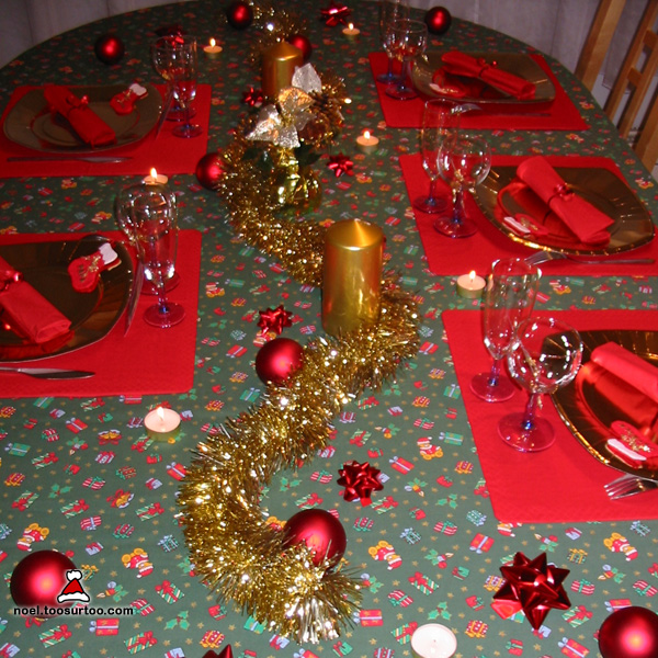 D co de table pour no l for Decoration de noel pour table
