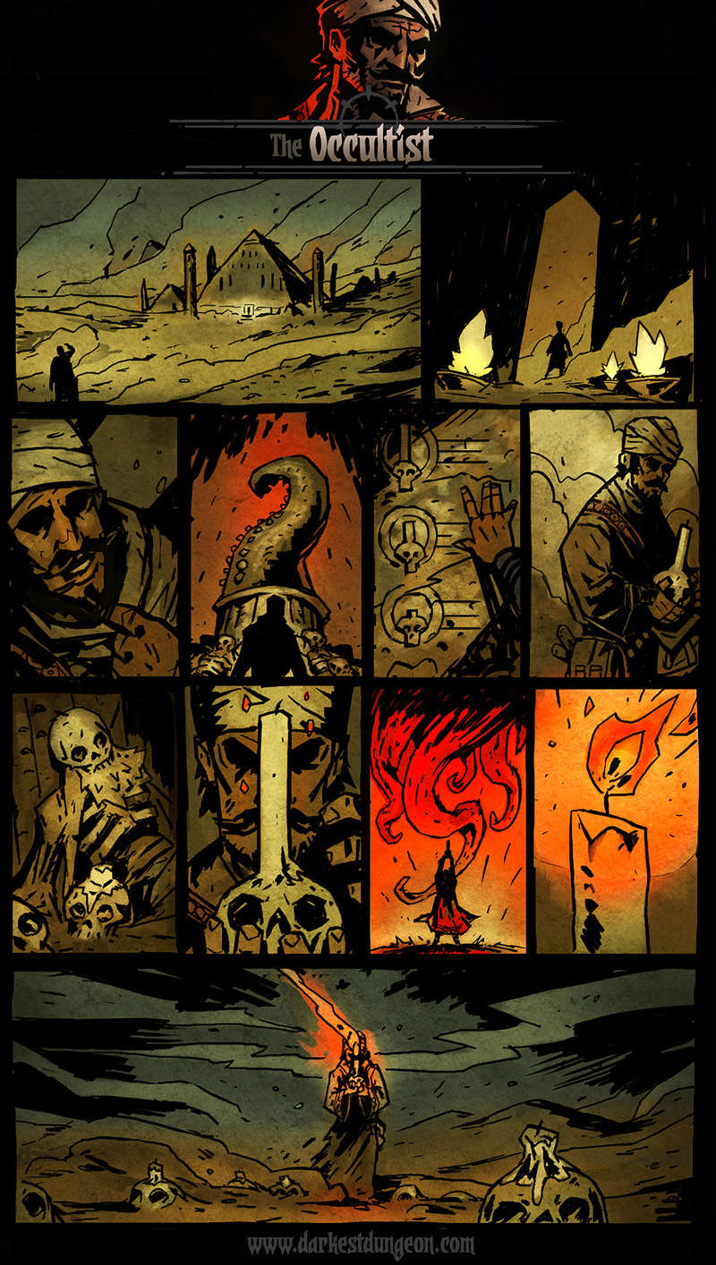 Darkest Dungeon - Occultist's comic