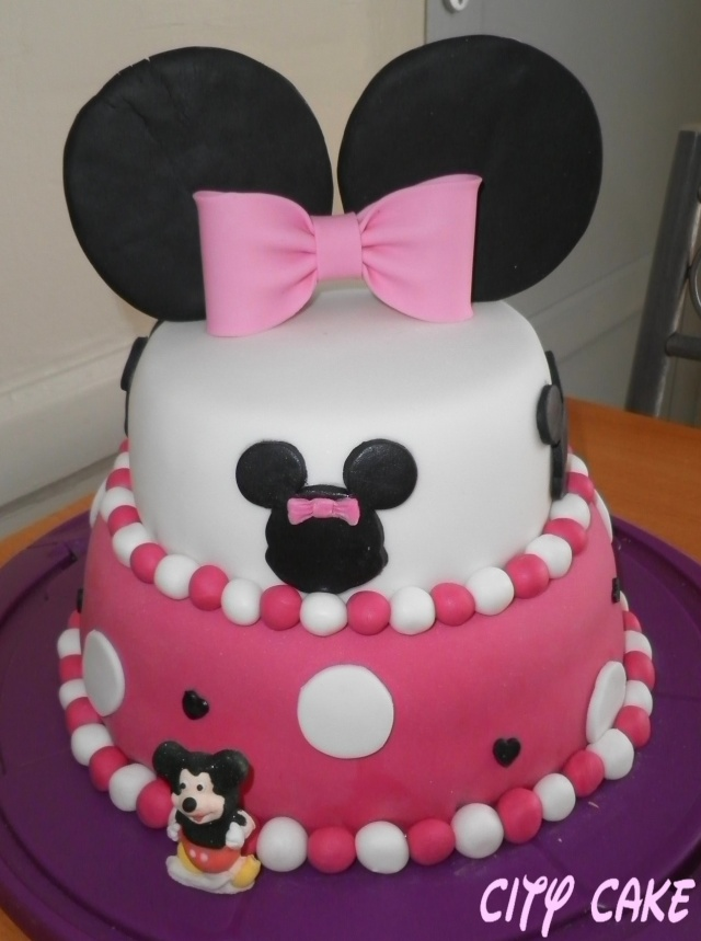 Gateaux mickey et minnie - Gateau mickey facile ...