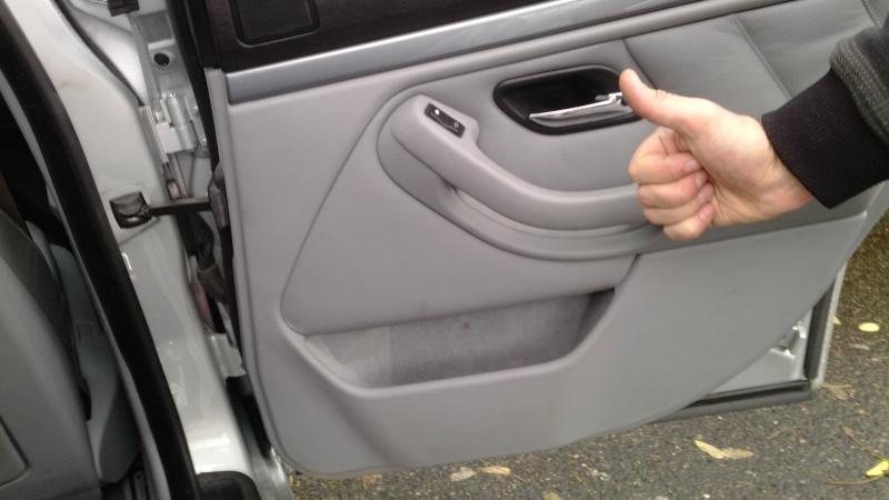 E39 Phase 2] Démontage garniture porte arrière + joint : Bmw ...