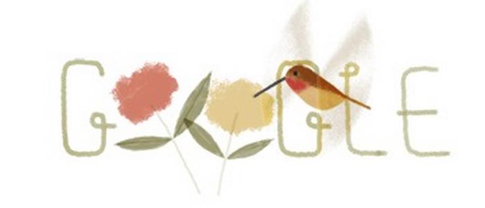 Belle ! Google célèbre la journée de la Terre avec... un colibri sur son moteur de recherche