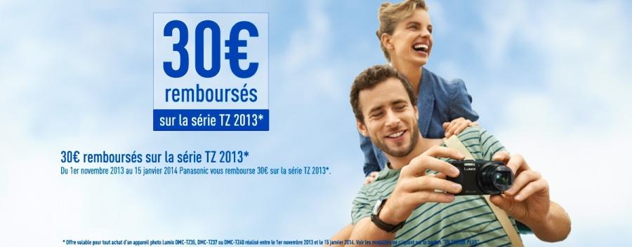 Panasonic rembourse 30€ sur les compacts TZ35, TZ37 et TZ40