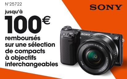 Sony rembourse jusqu'à 100€ sur les hybrides NEX-3N et NEX-5T