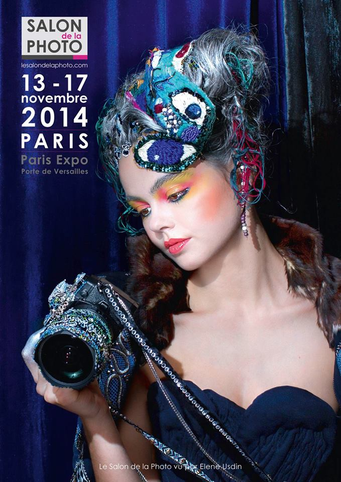 Affiche officielle du Salon de la Photo 2014 par Elene Usdin