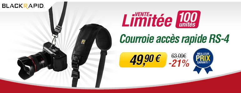Vente limitée Miss Numérique avec -21% sur la courroie Black Rapid RS-4