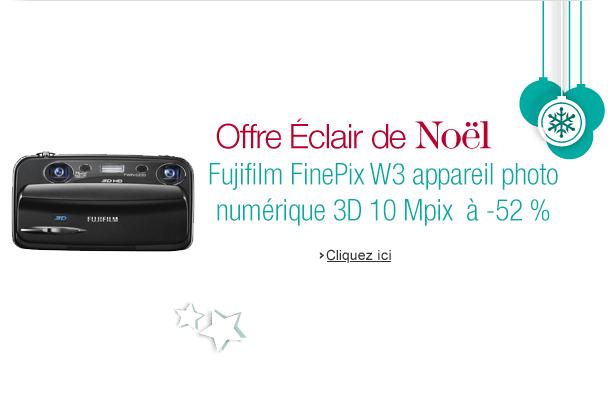 Offre Éclair du jour sur Amazon avec -52% sur le compact 3D Fujifilm FinePix W3