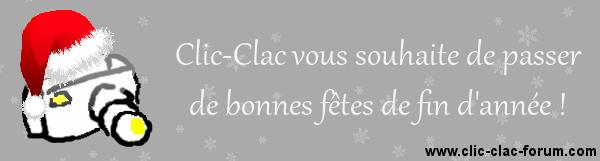 Clic-Clac vous souhaite de passer de bonnes fêtes de fin d'année