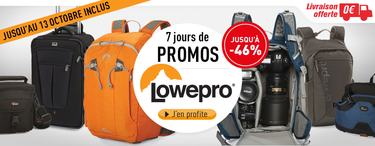 7 jours de promos sur les sacs photo Lowepro chez Miss Numérique