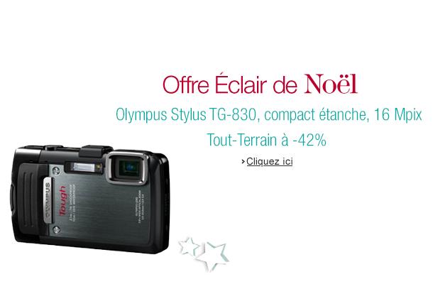 Offre Éclair du jour sur Amazon avec -43% sur le compact tout-terrain Olympus Stylus TG-830