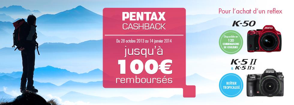 Pentax rembourse jusqu'à 100€ sur certains reflex