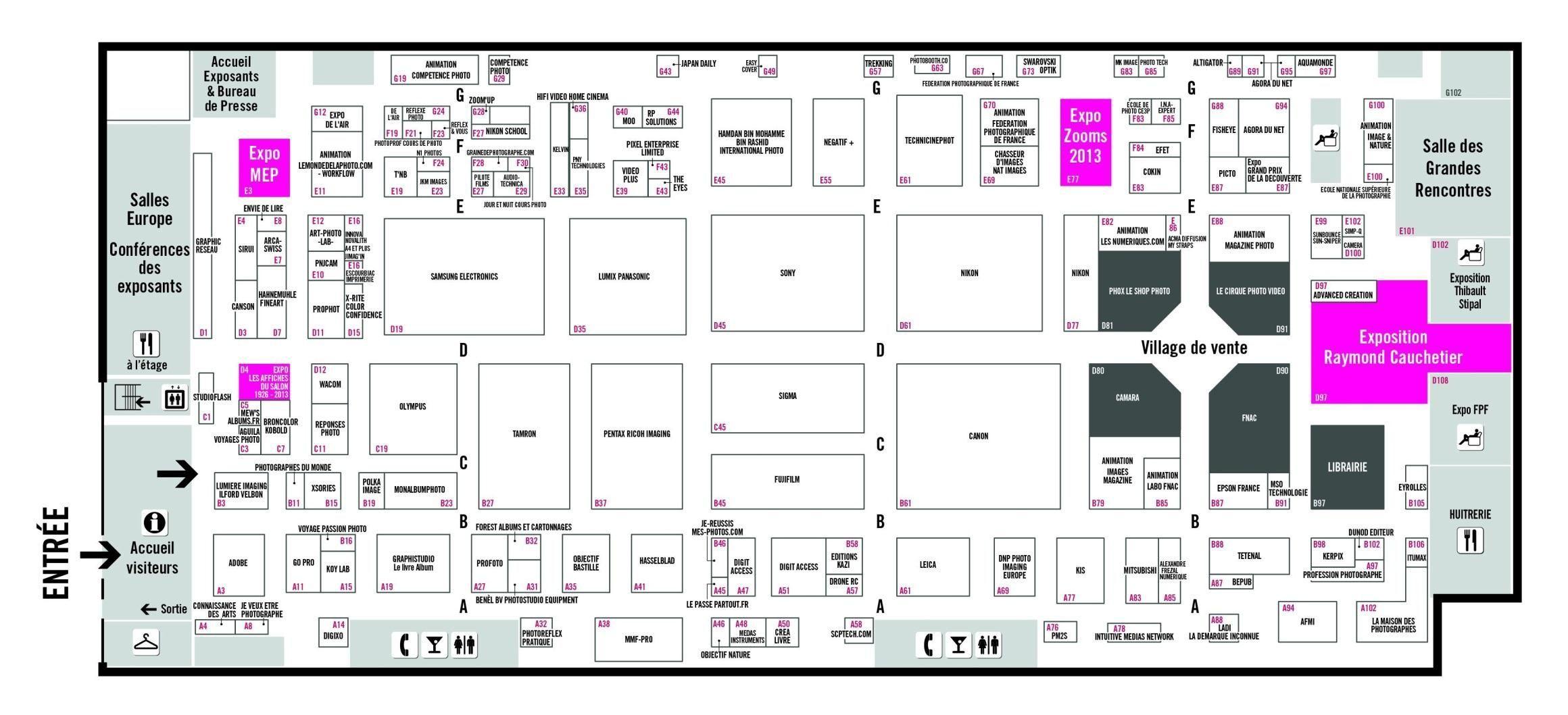 Le plan du Salon de la Photo 2013
