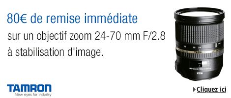 80€ de remise sur l'objectif Tamron SP 24-70mm f/2.8 sur Amazon