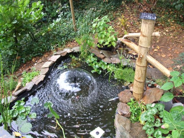 Petit bassin aquatique 1149900 - Jet d eau solaire pour petit bassin ...