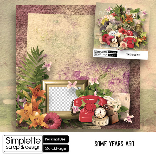freebie gratuit collection complete vintage simplette scrap design some years ago