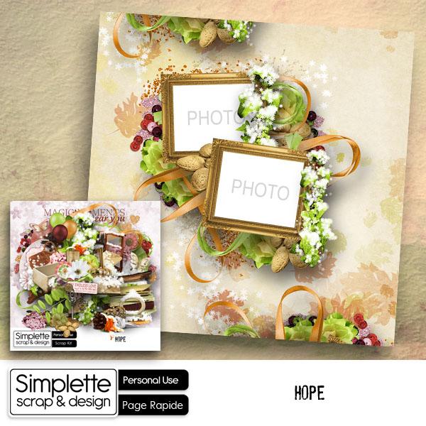 """"""" Hope """" le nouveau kit de Simplette"""