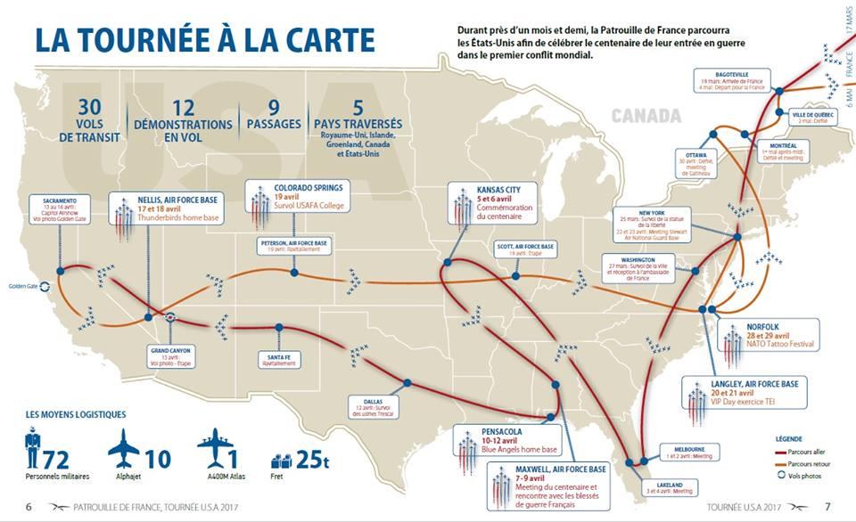 PAFUSTour, Patrouille de France USA TOUR 2017, Meeting Aerien 2017
