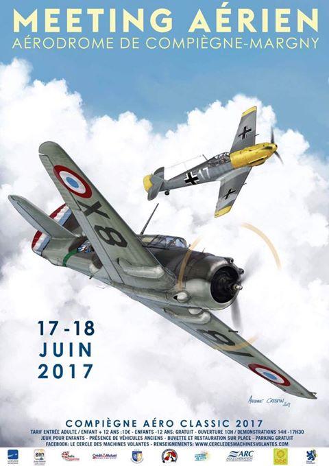 Compiègne Aéro-Classic 2017 , meeting aerien 2017, Cercles des Machines Volantes 2017, French Airshow 2017