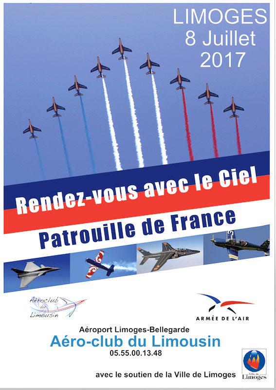 Patrouille de france , Rafale Solo Display 2017 , Alphajet Solo Display 2017, Rendez vous avec le Ciel 2017 , Aeroport limoges , Meeting Aerien limoges bellegarde 2017, Meeting Aerien 2017, French Airshow 2017