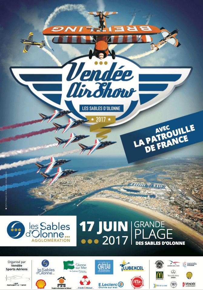 Vendee Airshow , Meeting Aerien Sables-d'Olonne, patrouille de france 2017, Sables-d'Olonne airshow, French Airshow 2017