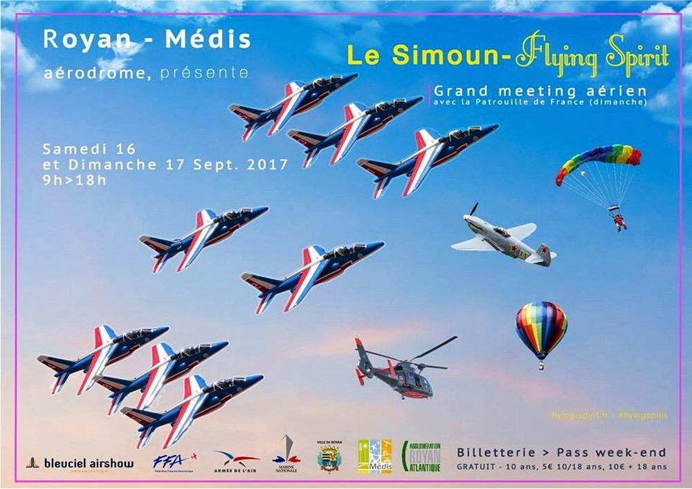 Flying Spirit Royan 2017, Charente-Maritime, bleu ciel airshow , Meeting Aerien 2017, Airshow 2017, French Airshow 2017