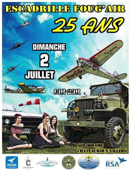 25 ans de Foug'Air les 1er et 2 juillet à Chateauroux Villers, 1er Rassemblement poli miroir et Trains Classiques,fete aeriennes 2017, Meeting Aerien 2017