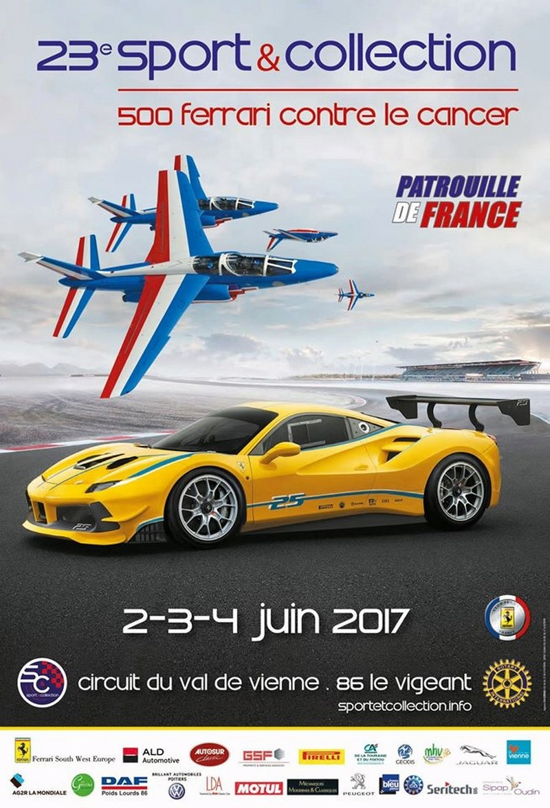 23ème Sport & Collection 500 Ferrari contre le cancer 2017, Patrouille de France 2017 , EVAA , equipe de voltige de l'armee de l'air, French Airshow 2017