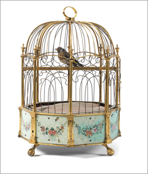 les pendules cages et oiseaux automates. Black Bedroom Furniture Sets. Home Design Ideas
