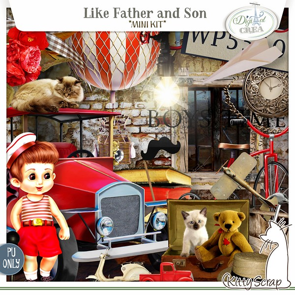 Like father and son de Kittyscrap dans juin previe12
