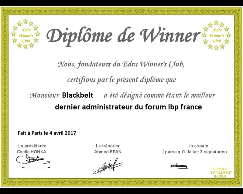 diplome winner