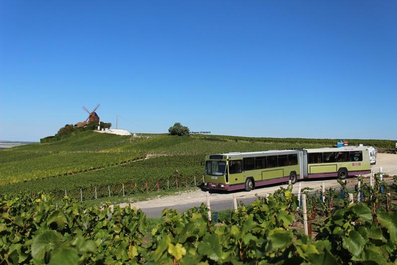 Le 731 au pied du Moulin de Verzenay.
