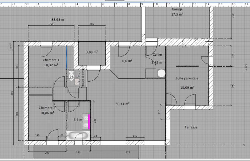 Votre avis sur le plan de ma future maison for Porte de salle de bain vitree
