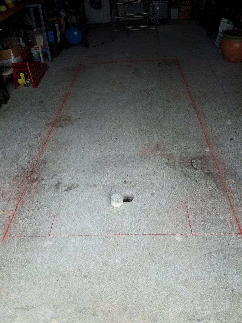 Confection d 39 une fosse m canique breizh gti 80 for Faire une fosse de garage