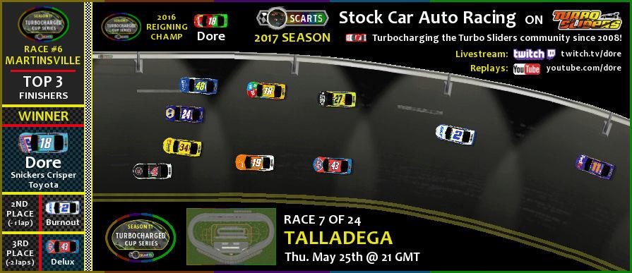 SCARTS - Stock Car Auto Racing on Turbo Sliders - 2017 Season