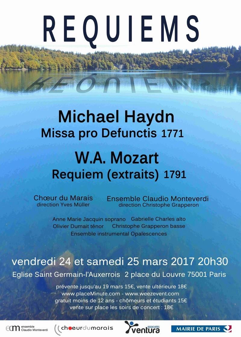 Affiche Requiems en Miroir: Haydn et Mozart 2017