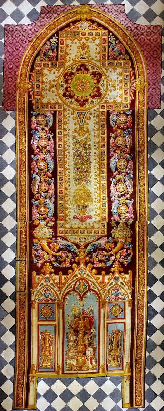 Notre dame de paris exposition du tapis de choeur - Tapis saint maclou paris ...