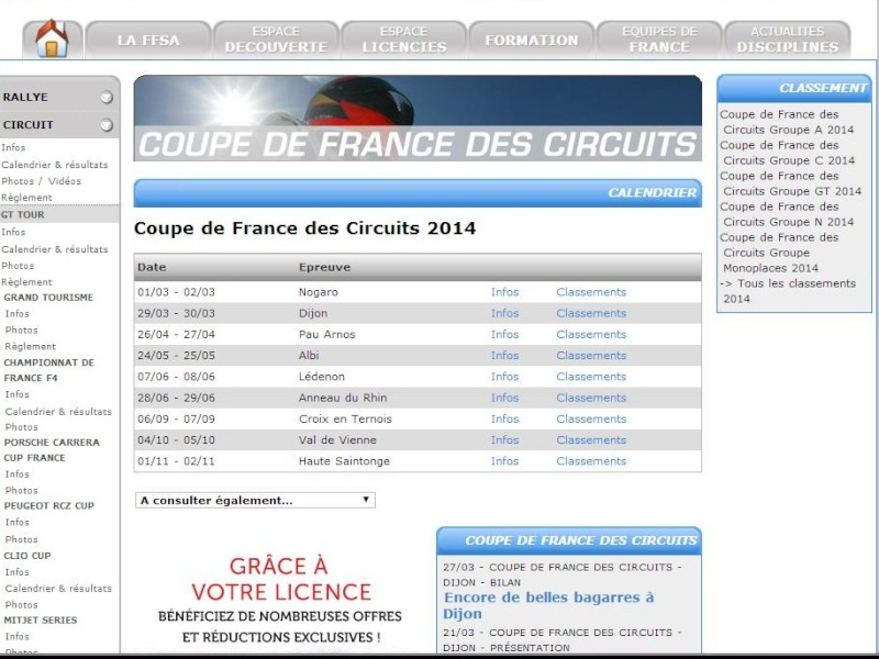 Calendrier coupe de france circuit 2014 - Coupe de france des circuit ...