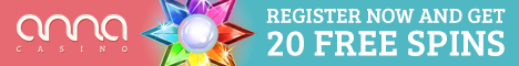 Anna Casino 20 Free Spins no deposit NetEnt