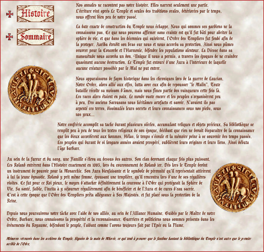 Histoire de la guilde des Templiers