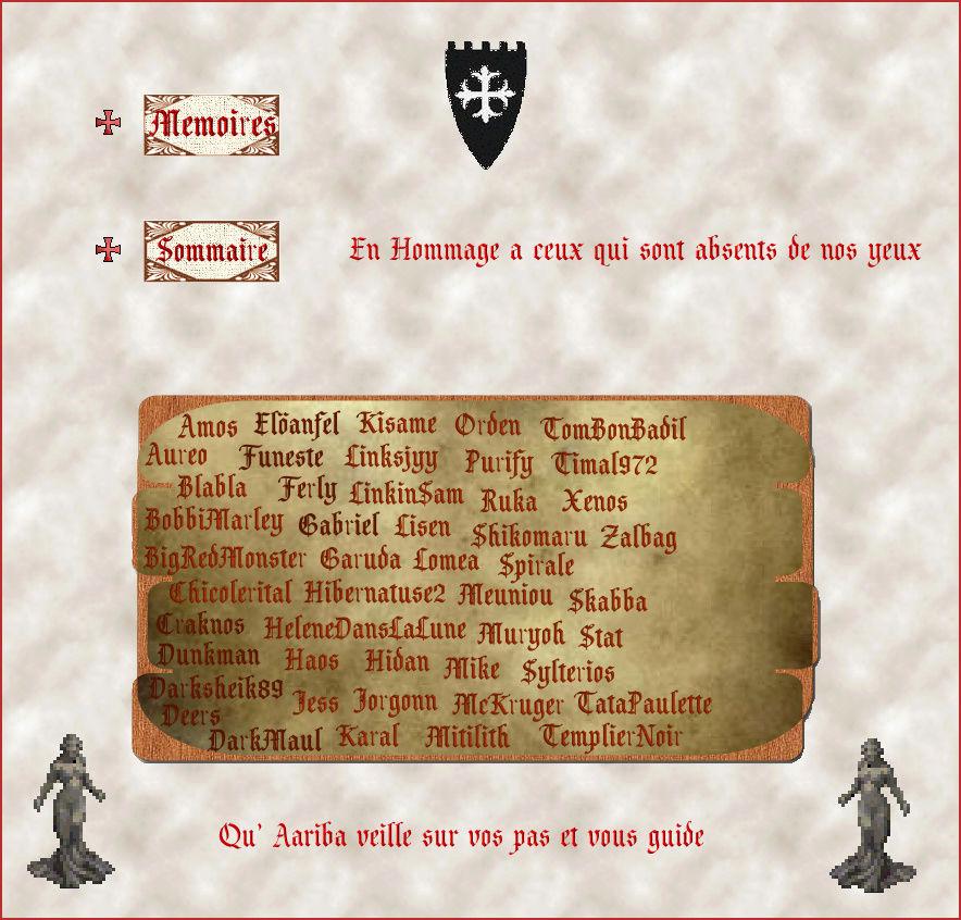 Mémoires des anciens membres de la guilde