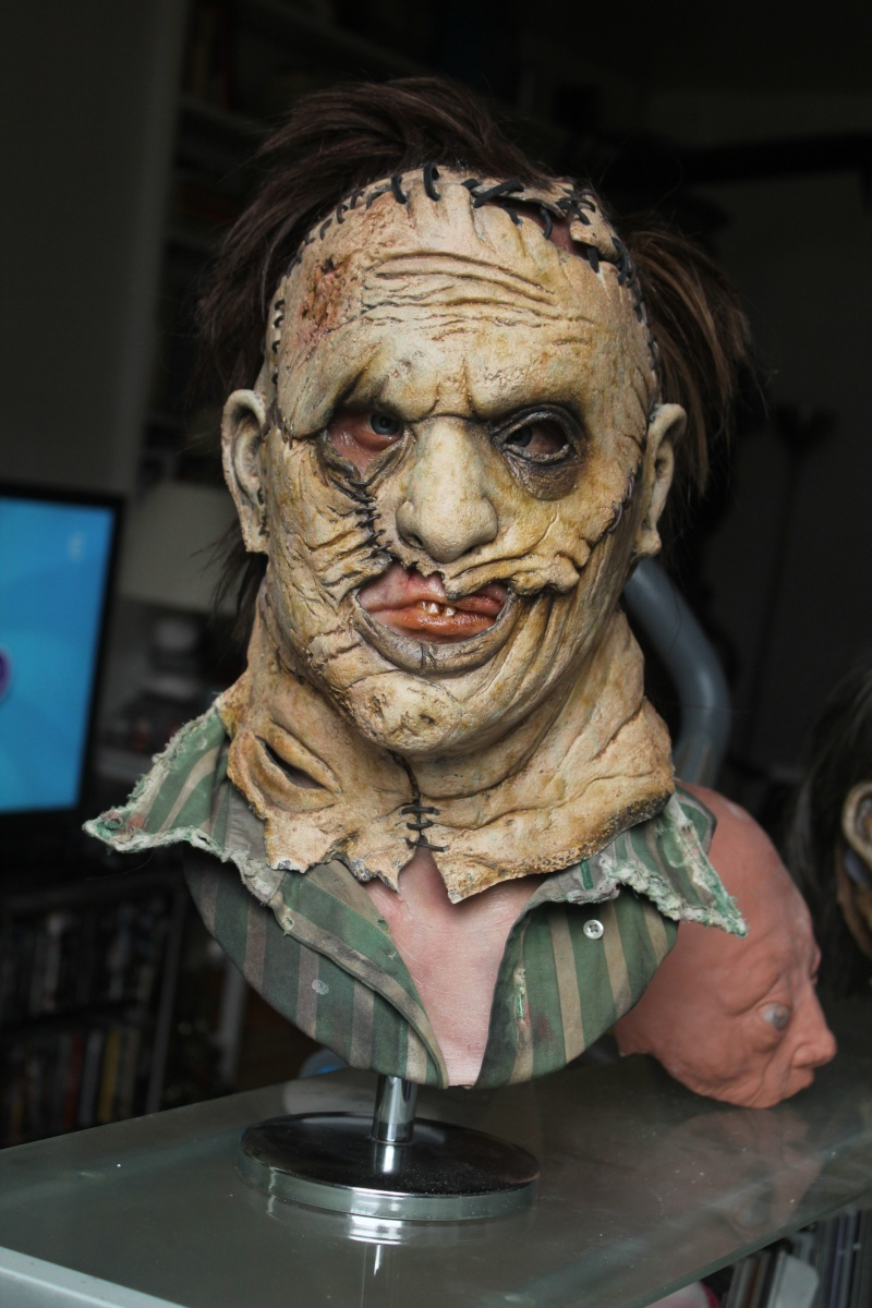My new Leatherface mask and underbust made by Scarewear