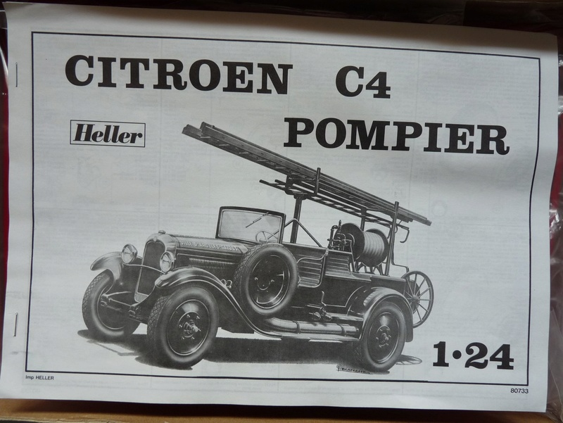 Citro n c4 pompier 1 24 heller n 733 for Garage citroen neuilly sur marne
