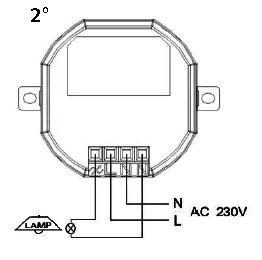 branchement module plafonnier avec variateur 54524. Black Bedroom Furniture Sets. Home Design Ideas