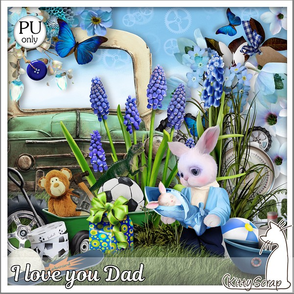 I love you dad de Kittyscrap dans juin kitty137