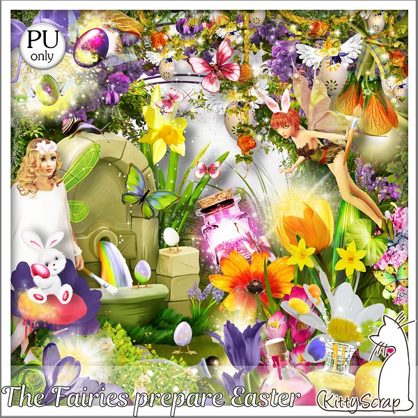 The Fairies prepare easter de KittyScrap dans Avril kittys68
